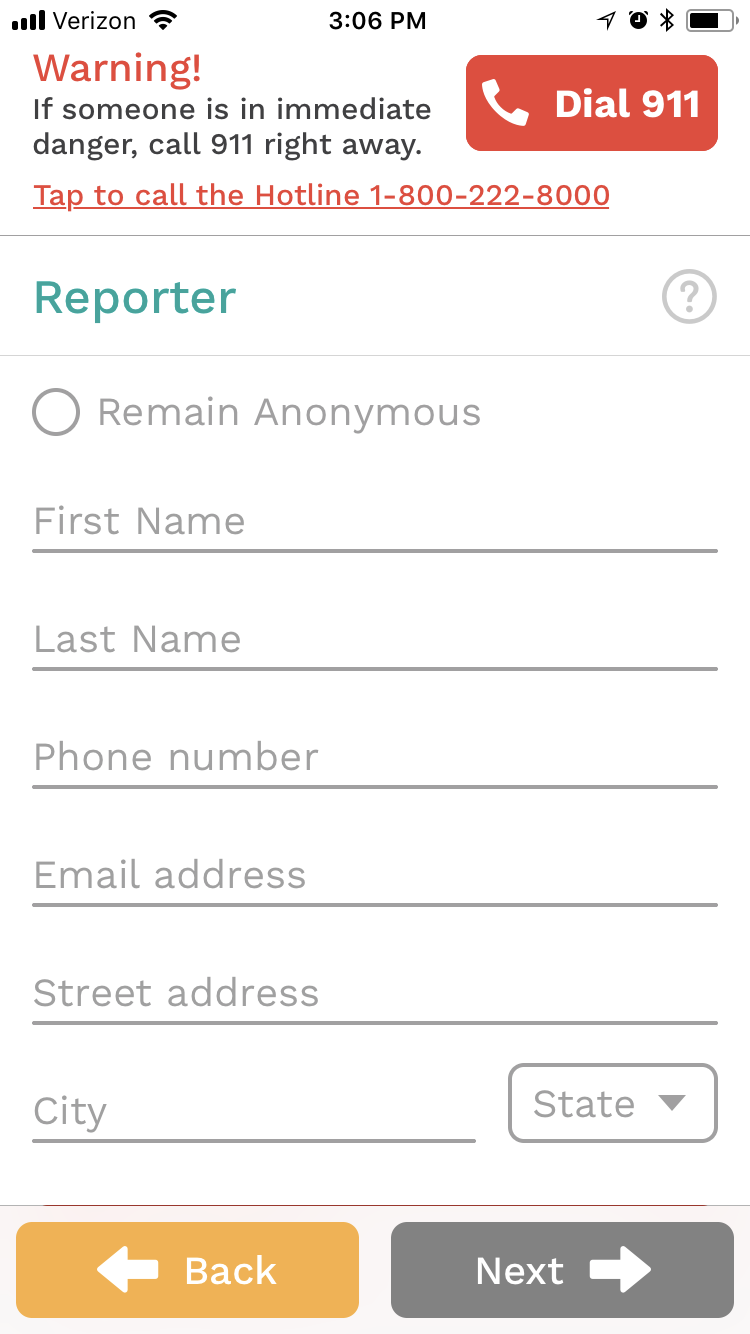 report child abuse mobile app help